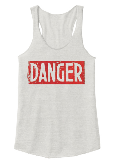 Danger Eco Ivory  T-Shirt Front