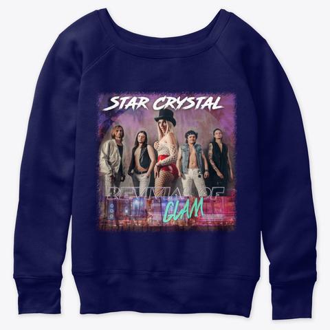 Revivial Of Glam Navy  T-Shirt Front