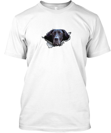 Great Dane 0812  In The Holes White T-Shirt Front