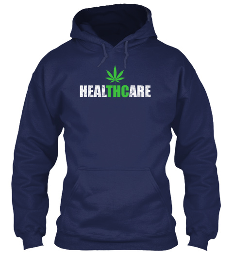 Healthcare Navy T-Shirt Front