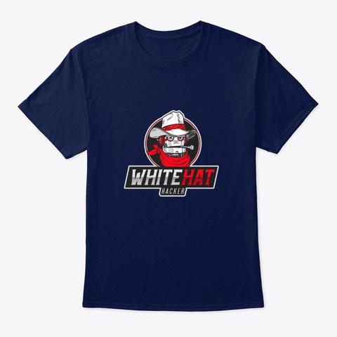 White Hat Hacker Navy T-Shirt Front