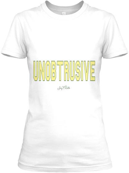 Unobtrusive White T-Shirt Front