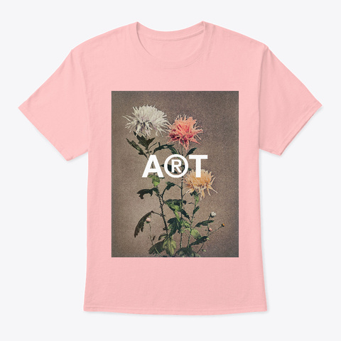 Kin Sui Ro Still Life Vintage Flowers  Pale Pink T-Shirt Front