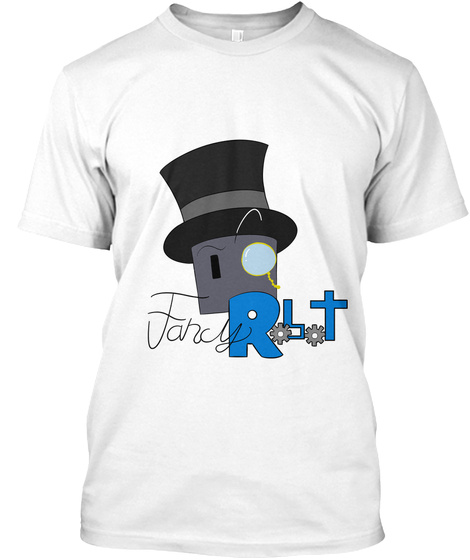 Fancy Robot White T-Shirt Front