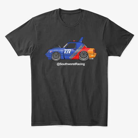 Southworst #737 Gas Can Team Only Black T-Shirt Front