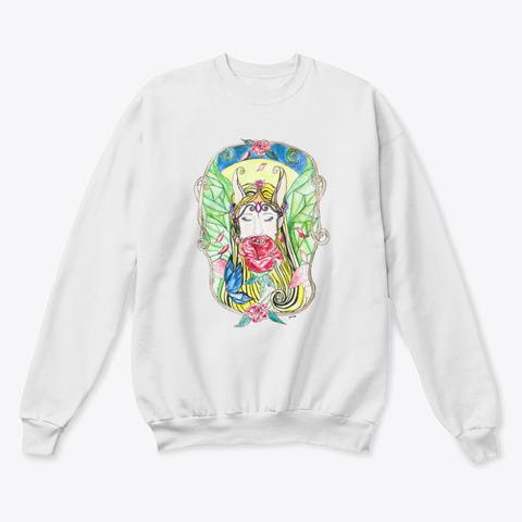 Rose Therapy Crewneck Sweater White  T-Shirt Front