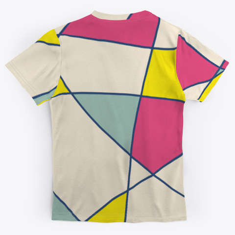 Abstract Patchwork Colorful Minimal Art Standard T-Shirt Back