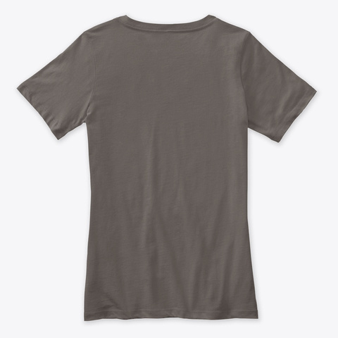 Teto Woman Shirt V (Grey) Asphalt T-Shirt Back