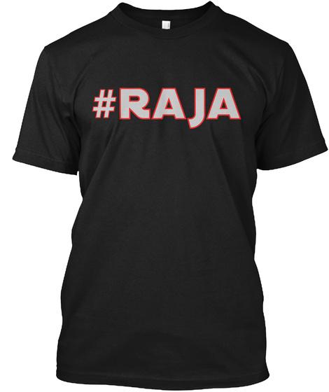 #Raja Black T-Shirt Front