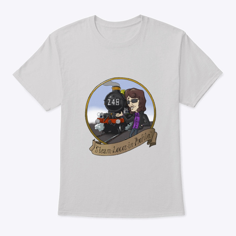Steam Locos In Profile   Gwr Castle Light Steel T-Shirt Front