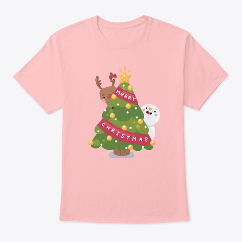 Christmas Is Comin' Pale Pink T-Shirt Front