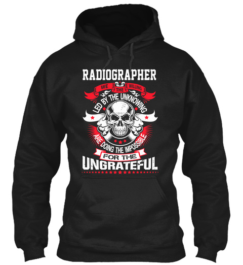 Radiographer Black T-Shirt Front