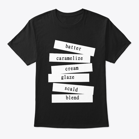 Baking Strip Art Common Glossary  Black T-Shirt Front