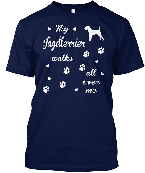 Jagdterrier Navy T-Shirt Front