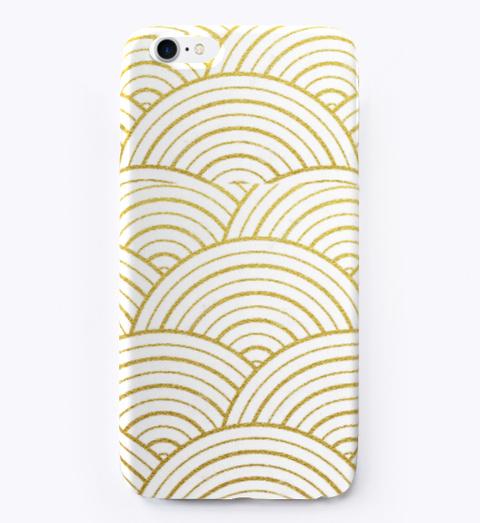 Gold Designed Phone Case Standard T-Shirt Front