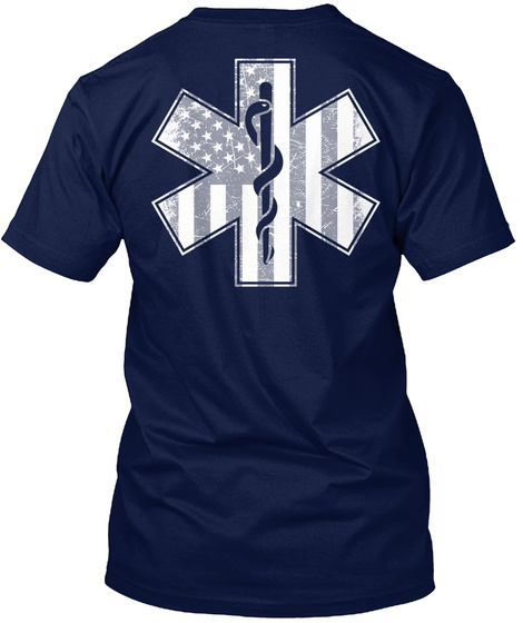 Flag Navy T-Shirt Back