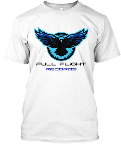 Full Flight Records Logo Tee   White White T-Shirt Front