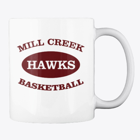 Mill Creek Hawks Basketball White Maglietta Back