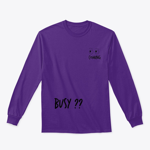 See Myself Coming, Going Purple T-Shirt Front