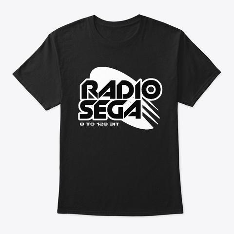 Radio Sega (2019)   Black Black T-Shirt Front