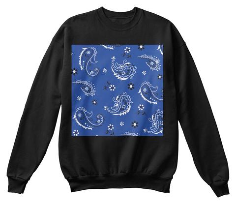 Blue Bandana Print Sweater