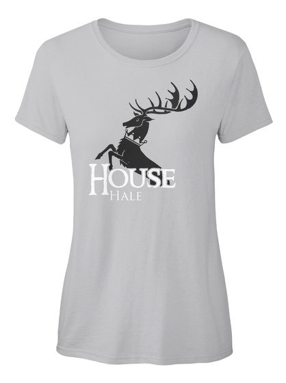 Hale Family House   Stag Sport Grey T-Shirt Front