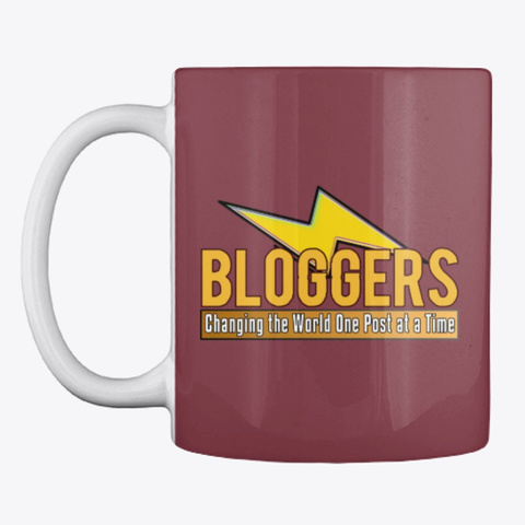 Blogger Lighting Bolt   Change The World Maroon T-Shirt Front