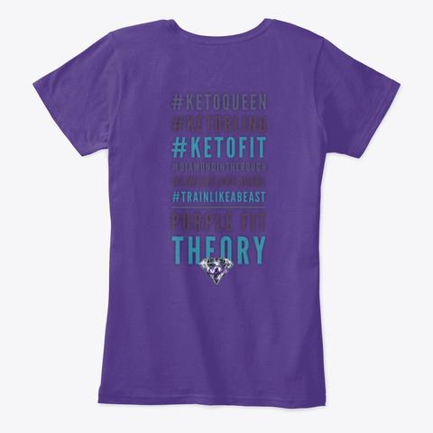 Purple Fit Theory Keto Queen Tee Purple T-Shirt Back