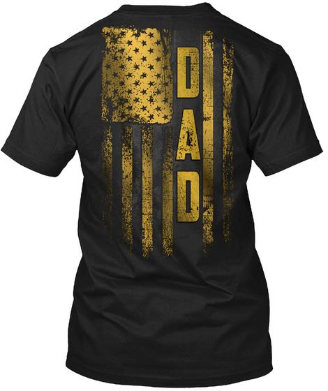 Dad Gold Black T-Shirt Back