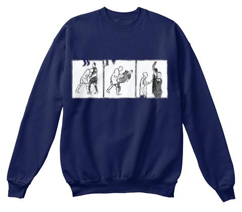 Zinedine's Headbutt Navy  Sweatshirt Front