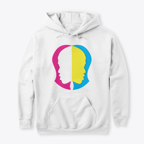 Equality Hoodie White Camiseta Front