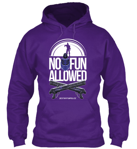 No Fun Allowed Purple Sweatshirt Front