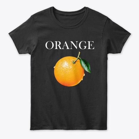 Orange Art Black T-Shirt Front