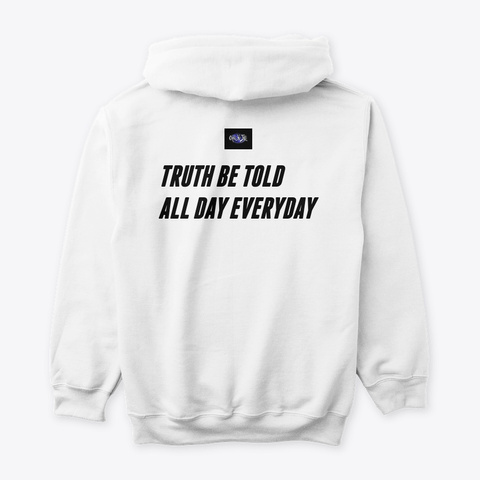 Am I Lying Slogan Apparel White T-Shirt Back