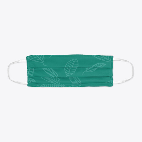 Green Leafy Face Mask Standard T-Shirt Flat