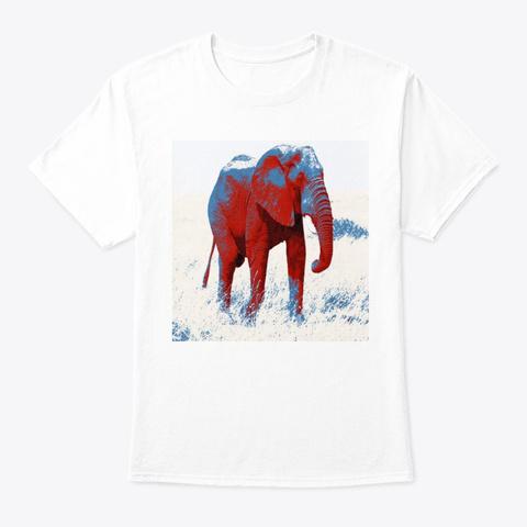 Modern  Elephant White T-Shirt Front