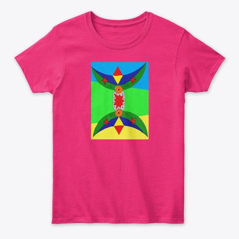 Amazigh Broche Symbol Art. Heliconia T-Shirt Front