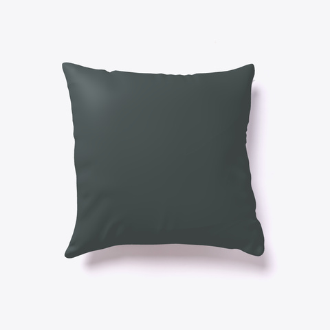 Softball Number 10 Pillow Dark Grey T-Shirt Back