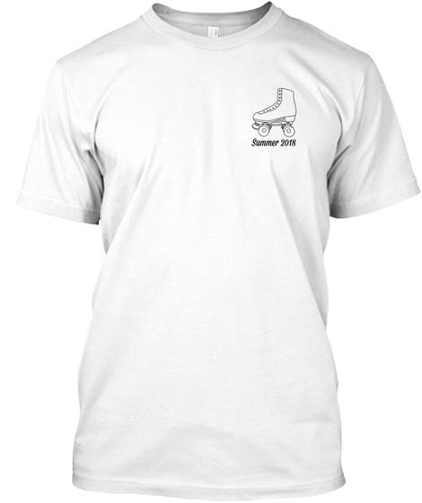 B Street Shoes Atlanta Roller Skate Tee White T-Shirt Front