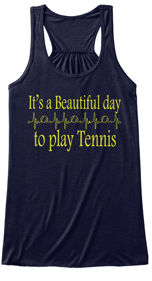 It's A Beautiful Day To Play Tennis Midnight Women's Tank Top Front