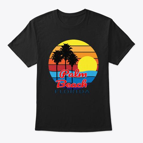 Palm Beach Florida  Black T-Shirt Front