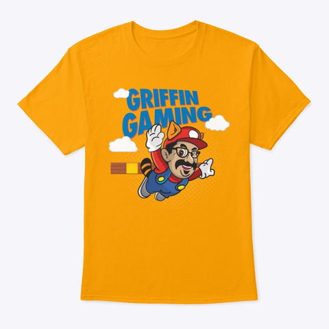 Griffin Gaming Gold T-Shirt Front