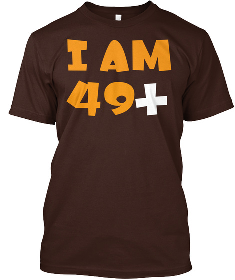 50th Birthday Gift Ideas Funny T Shirt Dark Chocolate Front