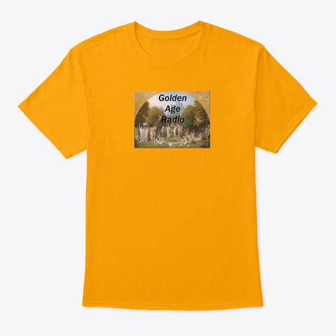 Golden Age Radio Tee Gold T-Shirt Front