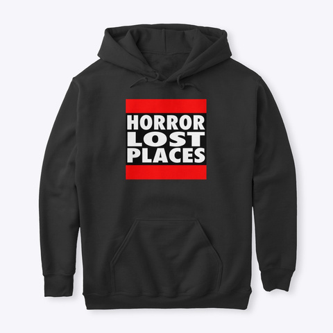 Horror Lost Places Hoodie Black T-Shirt Front