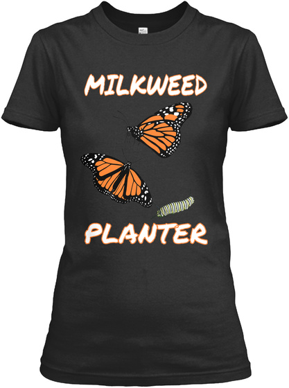Milkweed Planter Black Women's T-Shirt Front