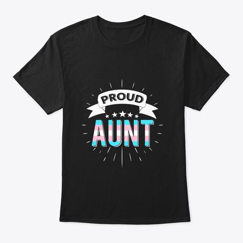 Proud Aunt T Shirt Trans Lgbt Pride Black T-Shirt Front