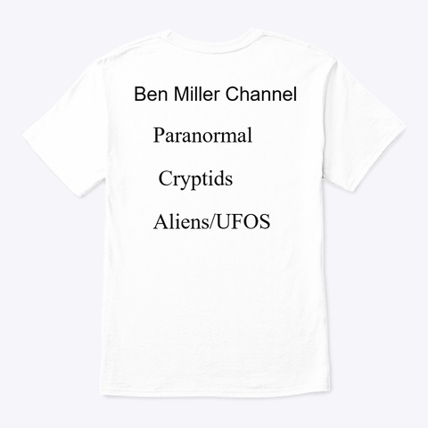 Ice Wolf Videos / Ben Miller Channel White T-Shirt Back