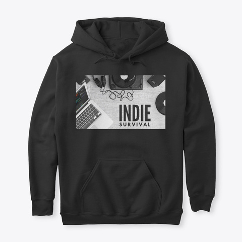 Indie Survival Apparel Black T-Shirt Front