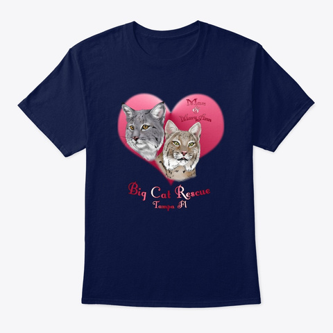 Bobcats In Love Navy T-Shirt Front